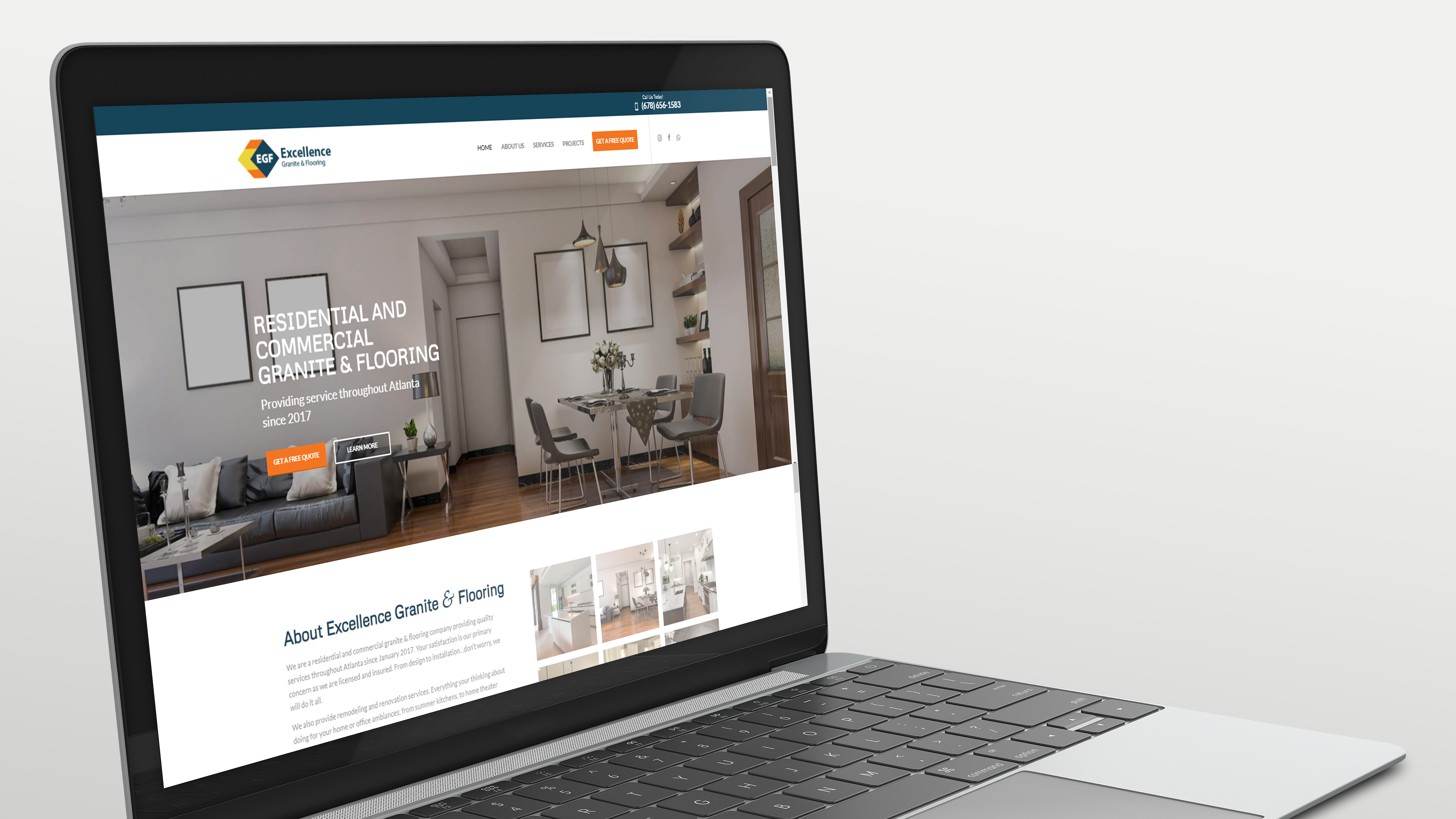 Website made for EGF Granite & Flooring